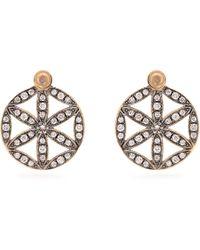 Noor Fares - Diamond, Moonstone & Yellow-gold Earrings - Lyst