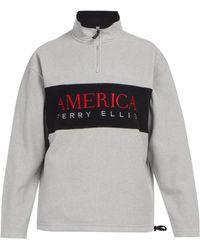Perry Ellis - Half-zip Fleece Jumper - Lyst