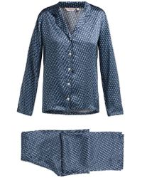 Derek Rose - Brindisi 32 Silk Charmeuse Pyjama Set - Lyst