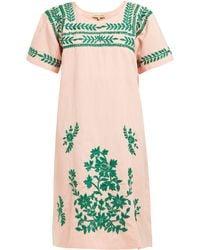 6132f6f6102 Muzungu Sisters - San Pedro Embroidered Cotton Blend Dress - Lyst