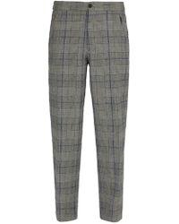 JOSEPH - Edgar Tailored Check Wool Trousers - Lyst
