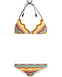 Missoni | Zigzag-edged Striped Bikini | Lyst