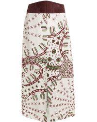 Valentino   Graphic-print Crepe Midi Skirt   Lyst
