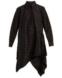 Marques'Almeida - Asymmetric Checked-taffeta Shirtdress - Lyst