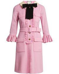 Gucci - Ruffle-trimmed Wool Dress - Lyst