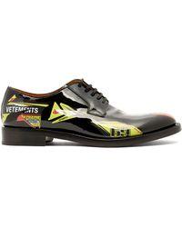 Vetements - Race Leather Derby Shoes - Lyst