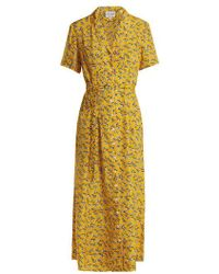 HVN - Long Maria Zebra-print Silk Dress - Lyst