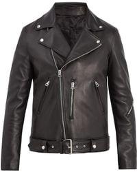 Acne Studios - Nate Clean Oversized Leather Biker Jacket - Lyst