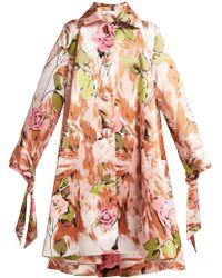 Richard Quinn - Floral-print Satin Coat - Lyst