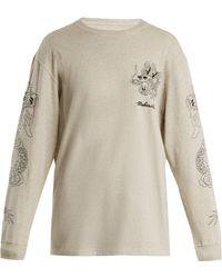 Maharishi - Stencil Dragon Logo Embroidered Cotton Sweatshirt - Lyst