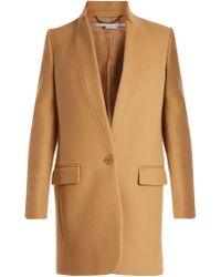 Stella McCartney - Bryce Single Breasted Wool Blend Coat - Lyst