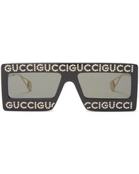 08514595f10 Lyst - Gucci Forever Hollywood Heart-shaped Acetate Sunglasses in Yellow