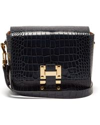 Sophie Hulme - Quick Crocodile-embossed Leather Cross-body Bag - Lyst