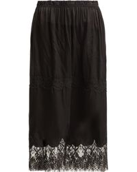 Icons - Gentian Lace And Silk Skirt - Lyst
