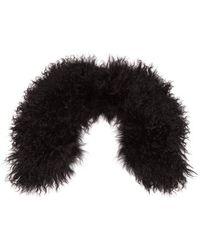 Yves Salomon - - Wool Collar Scarf - Womens - Black - Lyst