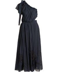 Fendi - Silk-appliqué Cotton Voile Dress - Lyst