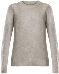Burberry - Crew-neck Cashmere Knit Sweater - Lyst