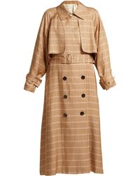 Golden Goose Deluxe Brand - Vela Checked Double Breasted Trench Coat - Lyst