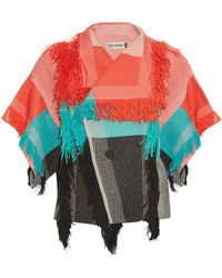 Issey Miyake   Parrot Fringed Cotton-Blend Jacket   Lyst