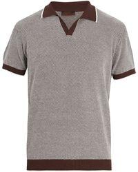 Altea   Contrast-trim Cotton-knit Polo Shirt   Lyst