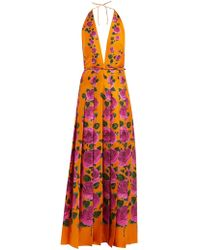 Gucci - Le Jardin Rose Print Silk Gown - Lyst