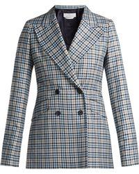 Gabriela Hearst - Angela Checked Silk And Wool Blend Blazer - Lyst