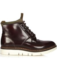 OAMC - Leather and Neoprene Compression Boots - Lyst