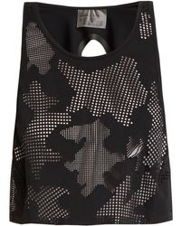 Charli Cohen - Lumen Perforated-front Jersey Cropped Top - Lyst