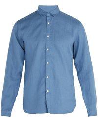 Oliver Spencer - Tab Collar Linen Shirt - Lyst
