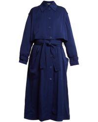 Stella McCartney Caban Elasticated Waist Crepe Trench Coat