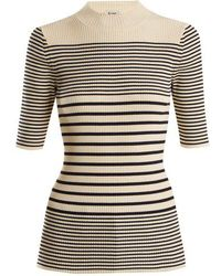 Acne Studios - Wimna Striped Ribbed-knit Cotton-blend Top - Lyst