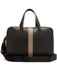 Paul Smith - Signature Stripe Leather Weekend Bag - Lyst