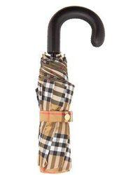 Burberry - - Parapluie pliable Vintage check - Lyst
