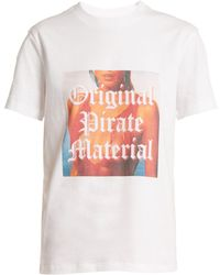 House of Holland   Original Pirate Material Cotton T-shirt   Lyst