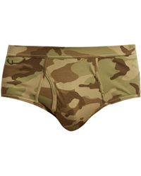 The White Briefs | Camouflage-print Briefs | Lyst