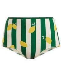 Solid & Striped - The Brigitte Lemon-print Bikini Briefs - Lyst