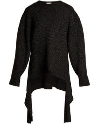 Balenciaga | Extended-cuff Long-line Sweater | Lyst