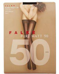 Falke - Pure Matt 50 Denier Hold Ups - Lyst