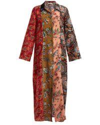 Anjuna - Augustina Panelled Silk Crepe Dress - Lyst