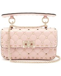 Valentino - Rockstud Spike Quilted-leather Bag - Lyst