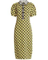 Diane von Furstenberg - Elly Crepe Midi Dress - Lyst