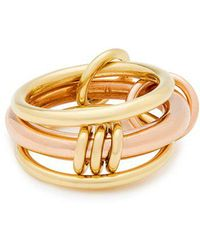 Spinelli Kilcollin - - Gemini 18kt Gold And Rose Gold Ring - Womens - Gold - Lyst