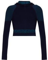 Laain - Emma Hooded Cropped Performance Top - Lyst