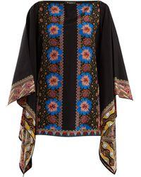 Etro - Floral-print Silk-georgette Top - Lyst