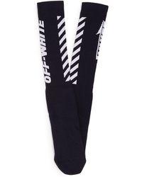 Off-White c/o Virgil Abloh - Wings Off Ribbed Knit Socks - Lyst
