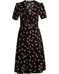 Miu Miu | Cherry-print Chiffon Dress | Lyst