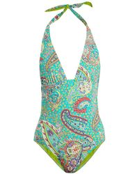 Etro - Abstract Paisley-print Swimsuit - Lyst