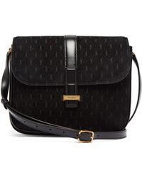 08ebe4acd764 Saint Laurent - Monogramme Suede Shoulder Bag - Lyst