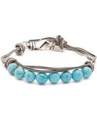 Emanuele Bicocchi | Bead-embellished Sterling-silver Bracelet | Lyst