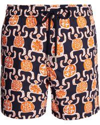 a12e8f961939 Vilebrequin Moorea Sweater Turtles-print Swim Shorts in Blue for Men ...